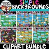 Simple Backgrounds Clipart Bundle {Backgrounds Clipart}