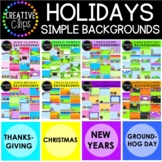 Holiday Backgrounds Bundle: Simple Background Clipart {Cre