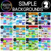 Simple Backgrounds Clipart Mega Bundle 2 {Creative Clips Clipart}