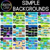 Simple Backgrounds Clipart Mega Bundle {Creative Clips Clipart}
