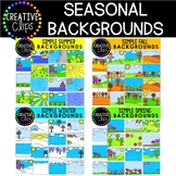 Simple Backgrounds: SEASONAL Clipart Bundle {Creative Clip