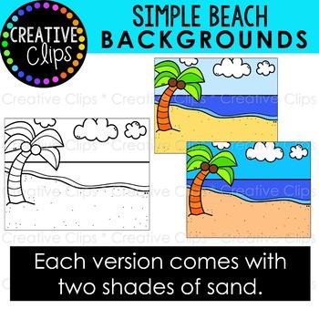 Simple Backgrounds: BEACH Clipart {Beach Background ...
