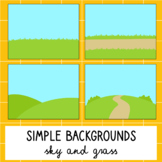 Simple Backgrounds - Sky and Grass