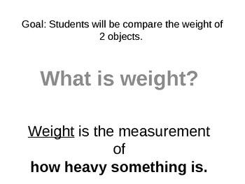Simple Balance: Measuring weight