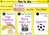 Simple & Basic All About Me | Back to School | FREE