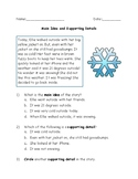 Simple, Beginner Main Idea and Supporting Details Worksheet