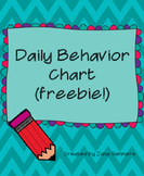 Simple Behavior Chart