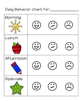 Simple Behavior Chart