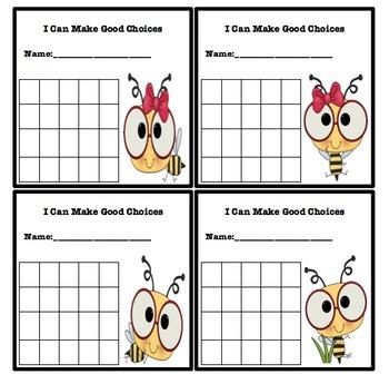Simple Behavior Chart (Bee Themed)