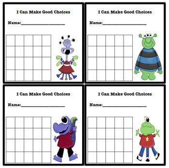 Simple Behavior Chart (Monster Themed)