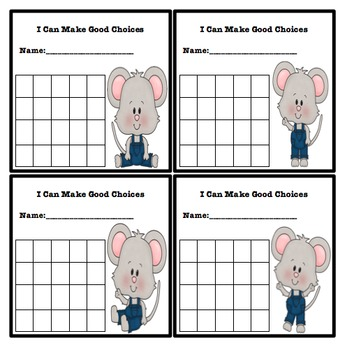 Simple Behavior Chart (Mouse Themed)