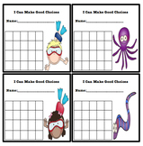 Simple Behavior Chart (Ocean Themed)