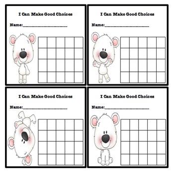 Simple Behavior Chart (Polar Bear Themed)