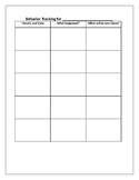 Simple Behavior Chart for Documenting and Tracking Behaviors