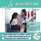 Simple Behavior Plans