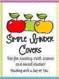 Simple Binder Covers