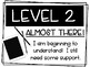 Simple Black & White Levels of Understanding Posters Self Monitoring Tool