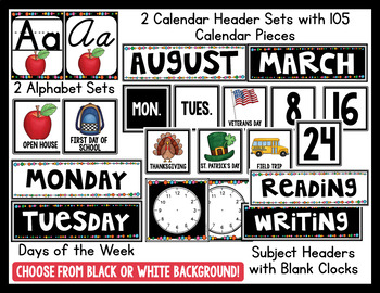 Classroom Decor | Simple Black & White BRIGHTS | Editable