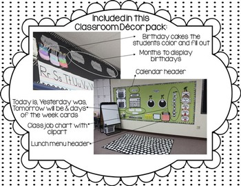 Simple Black & White Polkadot Classroom Decor Pack