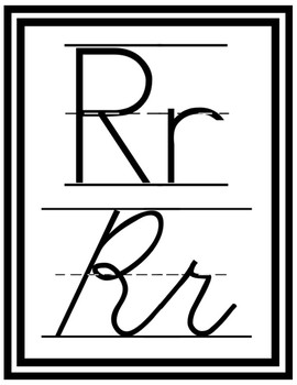 Simple Black and White Alphabet Posters *Print Friendly*