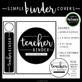 Simple Black and White Binder Covers