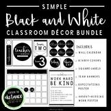 Simple Black and White Classroom Decor BUNDLE