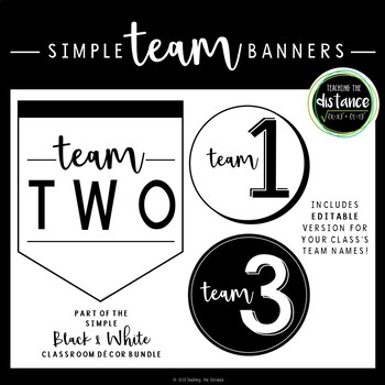 Simple Black and White Team Banners