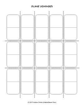 Simple Blank Dominoes Set - Vocab, Math Facts, Geometry, Etc...