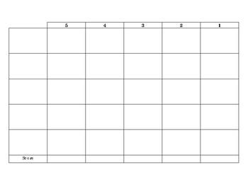 Simple Blank Editable Rubrics Set of 2