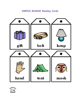 Simple Blends Phonics Reading Cards & list