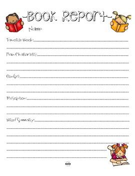 Simple Book Report Printable