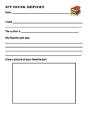 Simple Book Report for K-4