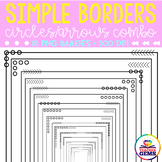 Simple Borders - Circles and Arrows Combo