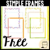 Simple Borders & Frames Clipart