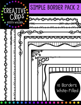 Simple Borders Pack 2 {Creative Clips Digital Clipart}