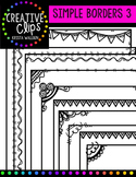 Simple Borders Pack 3 {Creative Clips Digital Clipart}