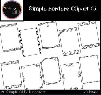 Simple Borders / Page Borders {Set #5}
