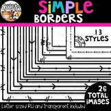 Simple Borders {Sellers Clipart}