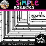 Simple Borders {Sellers Clipart}