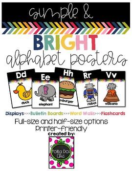 Simple & Bright Alphabet Posters