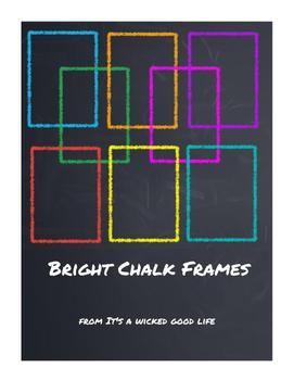 Simple Bright Chalk Frames