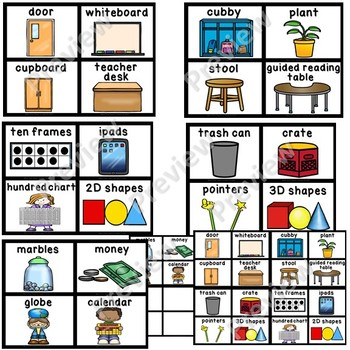 Simple & Bright Classroom Labels (Small and Large set)- Set 2