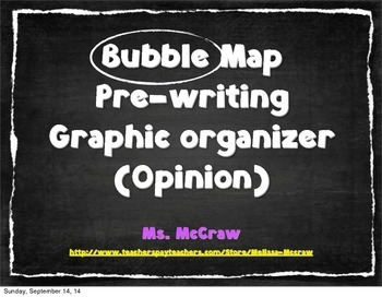 Simple Bubble Map Template (1 Paragraph) and Example