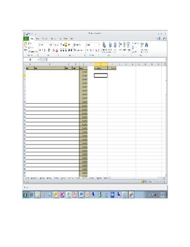 Simple Budgeting Tool One Account A year of projection