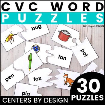 Simple CVC Word Puzzles