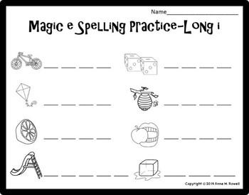 Simple CVCE Spelling Practice Worksheets - Magic E