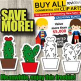 Simple Cactus clip art free