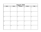 Simple Calendar - School Year 2018-2019