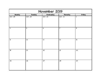 Simple Calendar - School Year 2019-2020