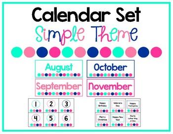 Simple Calendar Set